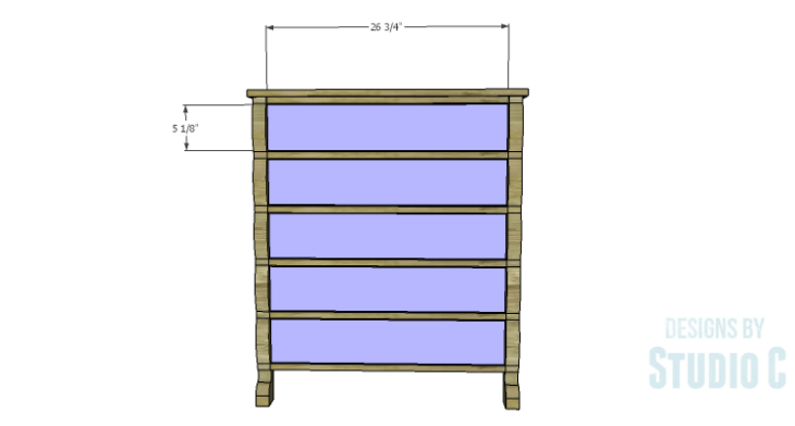 DIY Plans to Build a Scalloped Leg Dresser_Drawer Fronts