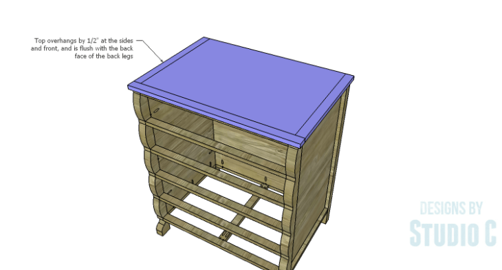 DIY Plans to Build a Scalloped Leg Dresser_Top 2