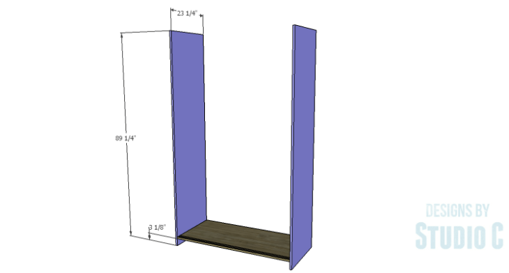DIY Plans to Build a Sliding Door Pantry_Sides