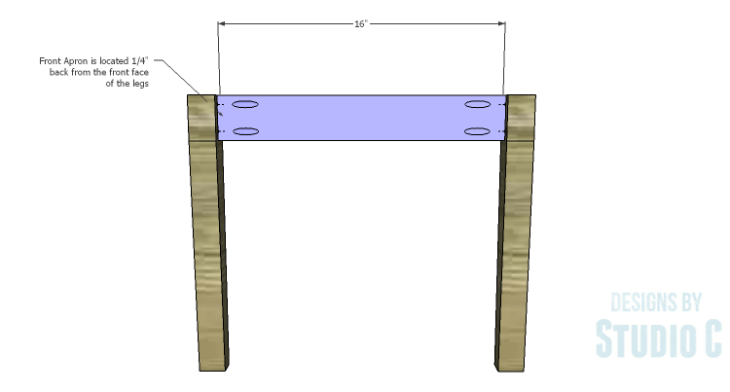 DIY Plans to Build an Anna Chair_Front Apron