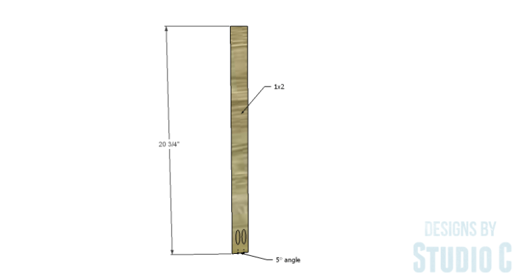 DIY Plans to Build an X Leg Chair_Back Side 1