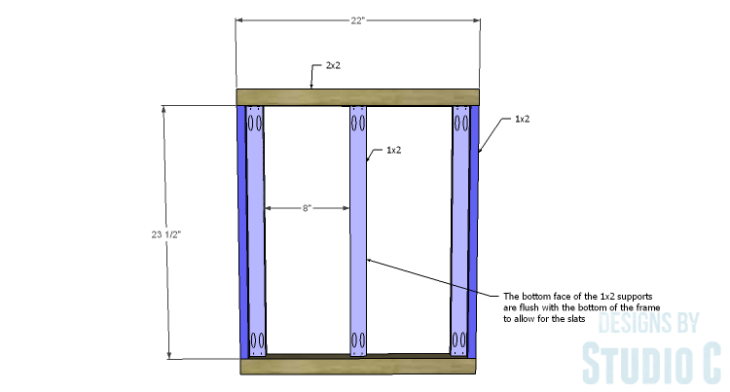DIY Plans to Build an X Leg Chair_Seat Frame 1