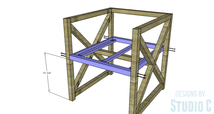 DIY Plans to Build an X Leg Chair_Seat Frame 2
