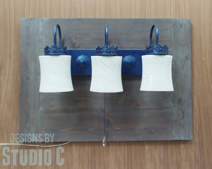 How to Make a Wall Mounted Lighting Piece_Finished