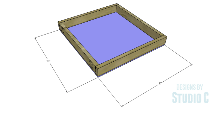 DIY Plans to Build a Desk with an Old Door_Drawer Bottom