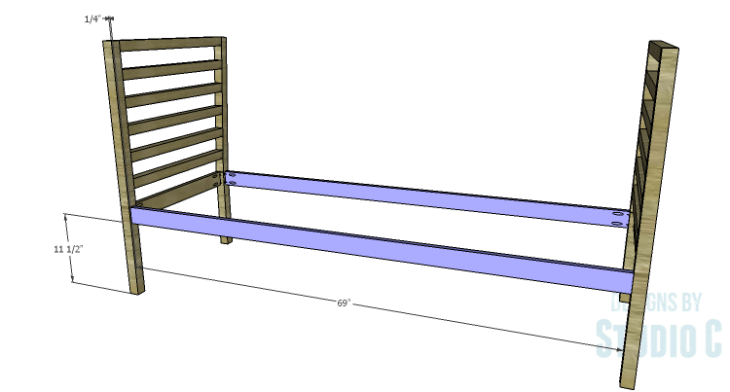 DIY Plans to Build a Penn Outdoor Daybed_Front & Back Aprons