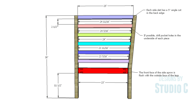 DIY Plans to Build a Penn Outdoor Daybed_Side Slats & Framing