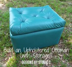 An Easy To Build Upholstered Ottoman