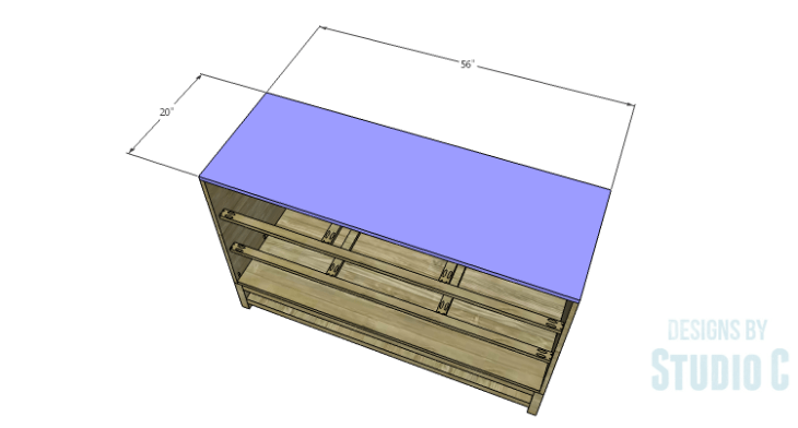 DIY Plans to Build a Sterling Dresser_Top