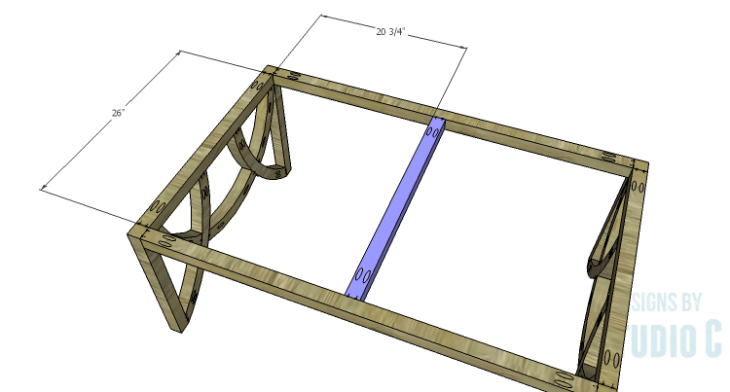 DIY Plans to Build a Curved Base Coffee Table_Center Support