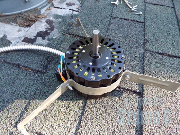 Replacing the Motor in an Electric Roof Vent_New Motor
