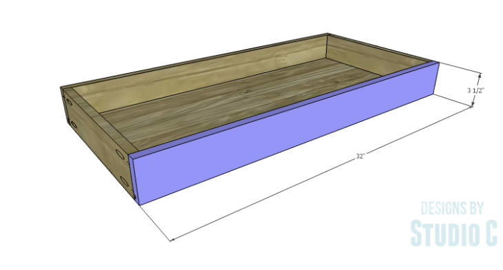 DIY Plans to Build a Long Paneled Sideboard_Drawer Front