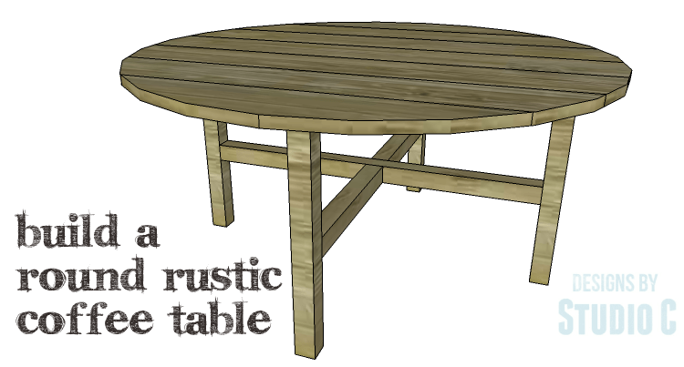 DIY Plans to Build a Round Rustic Coffee Table_Copy