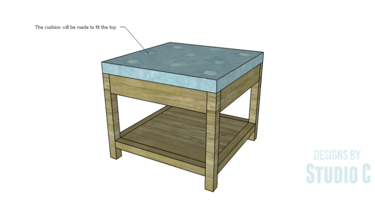 DIY Plans to Build a Storage Shelf Ottoman_Cushion
