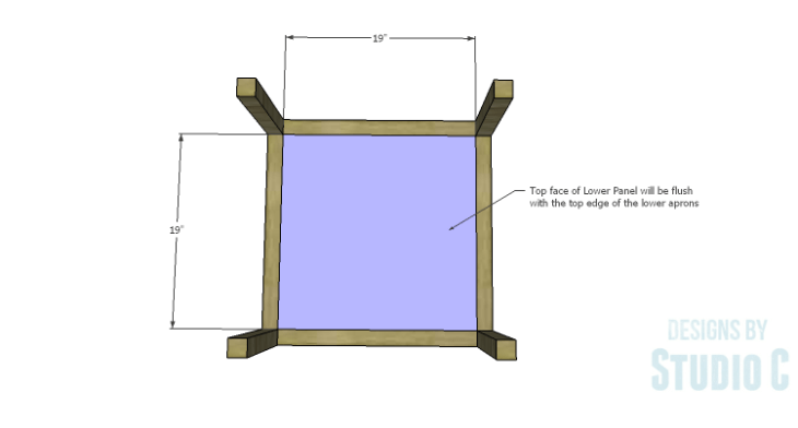 DIY Plans to Build a Storage Shelf Ottoman_Lower Panel
