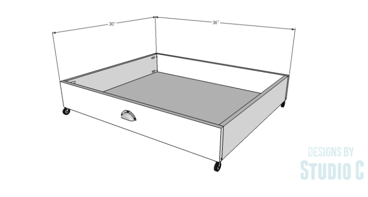 DIY Plans to Build Rolling Under-Bed Storage Boxes