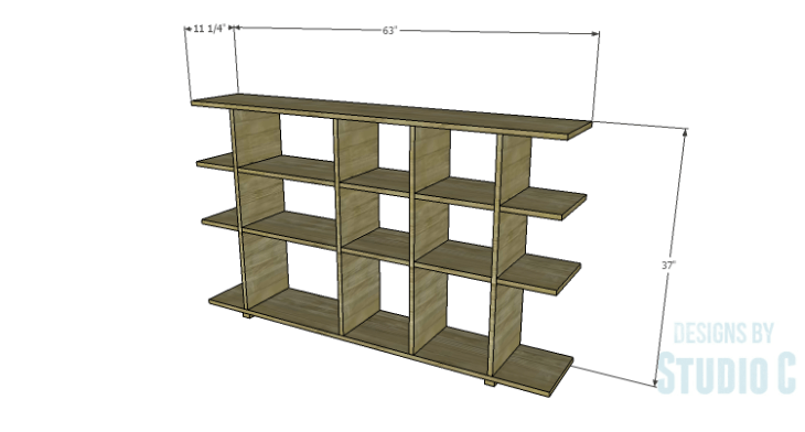 DIY Plans to Build a Bardot Bookcase