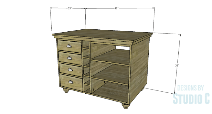 DIY Plans to Build a Carey Kitchen Island
