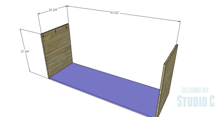 DIY Plans to Build a Mayweather Dresser_Sides & Bottom