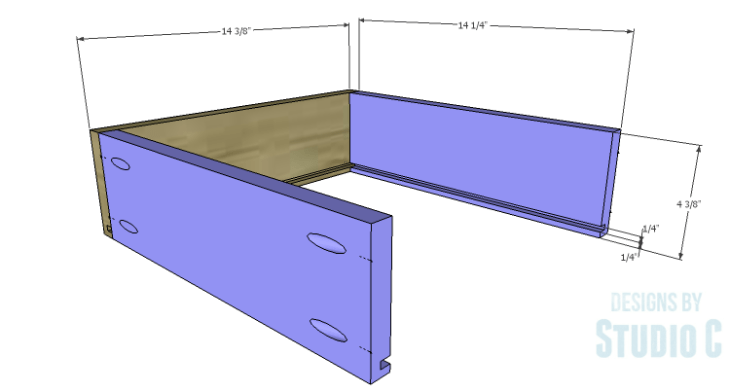 DIY Plans to Build a Mid Century Modern Cabinet_Drawers 1