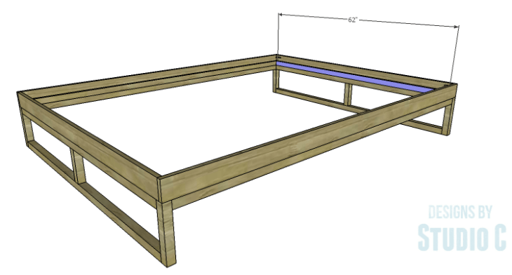 DIY Plans to Build a Modern+Rustic Queen Platform Bed_Slat Frame 2