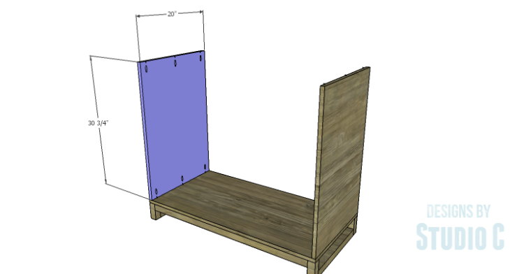 DIY Plans to Build a Carson Cabinet_Sides
