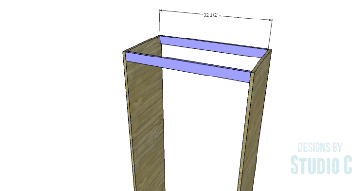 DIY Plans to Build a Country Pantry_Upper Stretcher