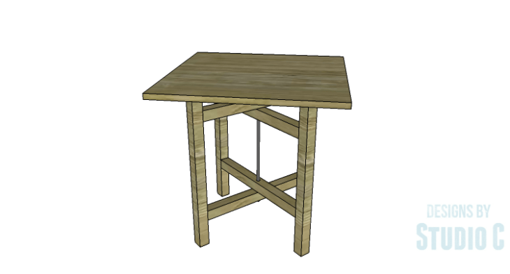 DIY Plans to Build a Cross-Leg End Table_Square Top