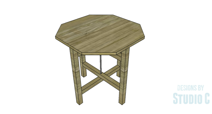 DIY Plans to Build a Cross-Leg End Table_Octagon Top