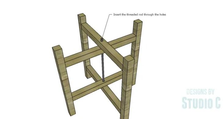 DIY Plans to Build a Cross-Leg End Table_Threaded Rod