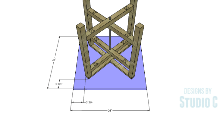 DIY Plans to Build a Cross-Leg End Table_Top