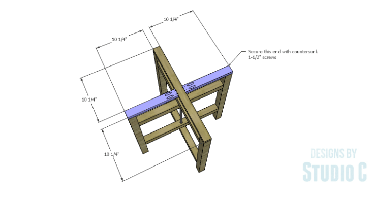 DIY Plans to Build a Cross-Leg End Table_TopSupports 2