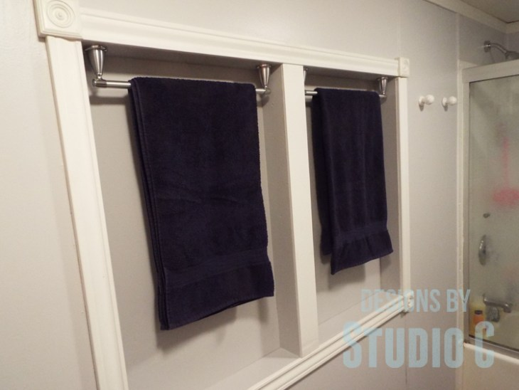 Fabulous Bathroom Update with BEHR Marquee Paint_Towel Rack Cabinets