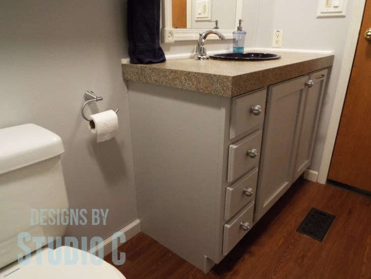 Fabulous Bathroom Update with BEHR Marquee Paint_Vanity