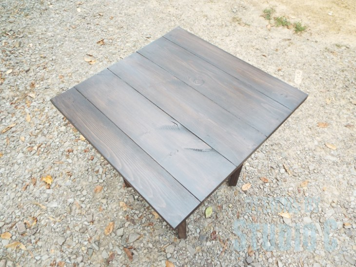 DIY Plans to Build a Cross-Leg End Table_Top View