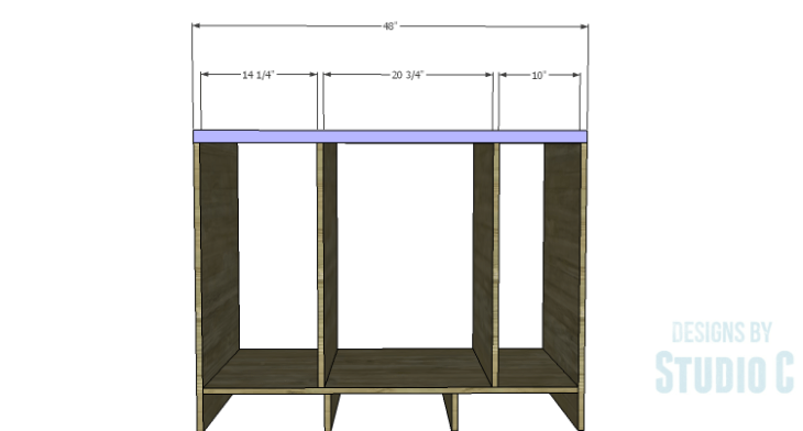 DIY Plans to Build a Bath Vanity with a Built-In Clothes Hamper_Back Support