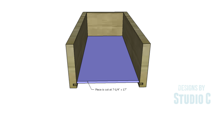 DIY Plans to Build a Bath Vanity with a Built-In Clothes Hamper_Drawer Box Bottom