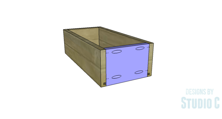 DIY Plans to Build a Bath Vanity with a Built-In Clothes Hamper_Drawer Box Front