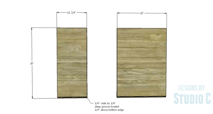 DIY Plans to Build a Bath Vanity with a Built-In Clothes Hamper_Hamper Box Sides