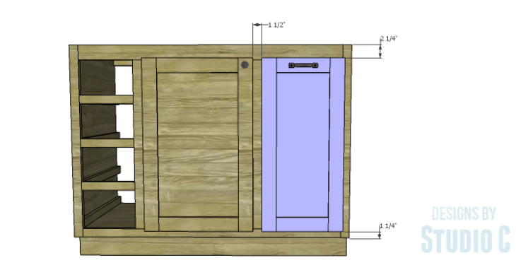 DIY Plans to Build a Bath Vanity with a Built-In Clothes Hamper_Hamper Door 2