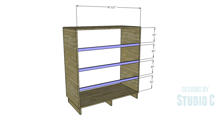 DIY Plans to Build a Mayweather Tall Dresser_Back Stretchers