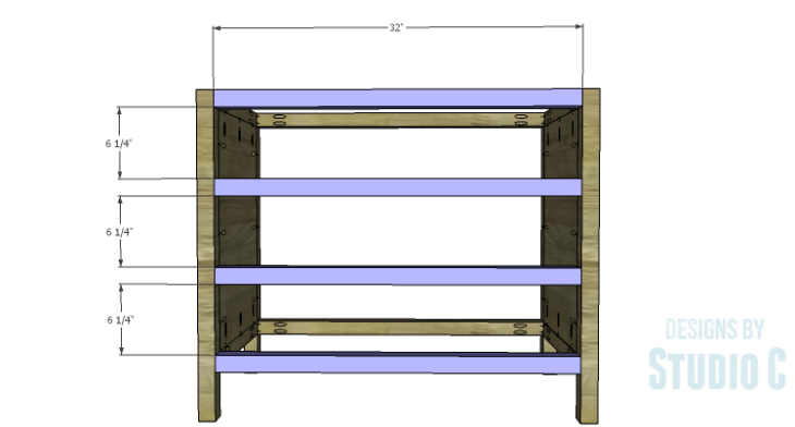 DIY Plans to Build a Brecken Dresser-Front Stretchers