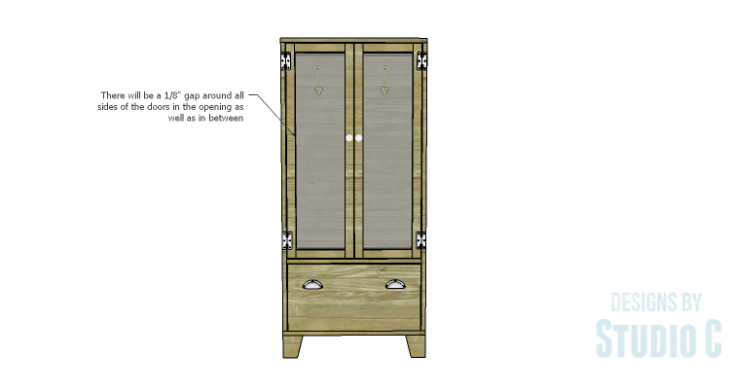 DIY Plans to Build a Coat Cabinet-Doors 3