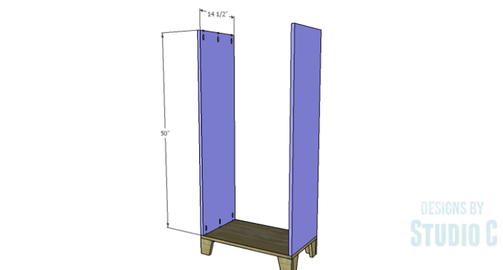 DIY Plans to Build a Coat Cabinet-Sides