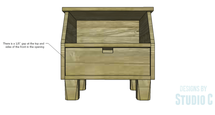 DIY Plans to Build a Cole Nightstand-Drop Down Front 2