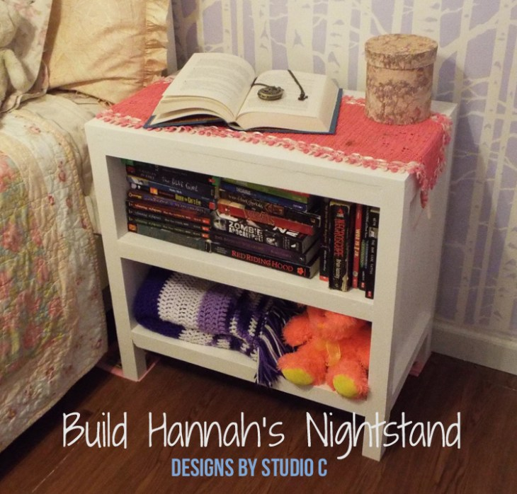 DIY Plans to Build Hannah's Nightstand-Featured