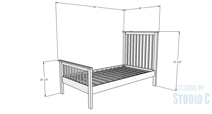 DIY Plans to Build a Delilah Twin Bed