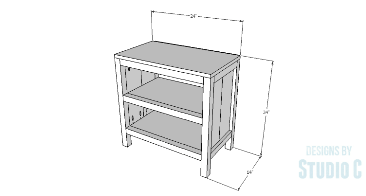 DIY Plans to Build Hannah's Nightstand