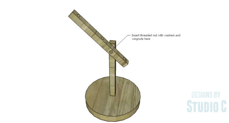 DIY Plans to Build a Rustic Cantilevered Desk Lamp-Threaded Rod