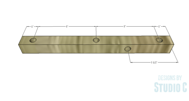 DIY Plans to Build a Rustic Cantilevered Desk Lamp-Upper Dowel Piece